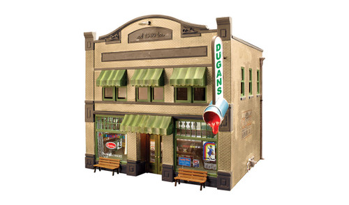 Woodland Scenics HO BR5053 Built and Ready Dugan's Paint Store (Lighted)