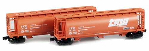 Full Throttle Z FT1043-1 ACF 51' Cylindrical Hopper Set #1, Toledo Peoria and Western (2-Pack)