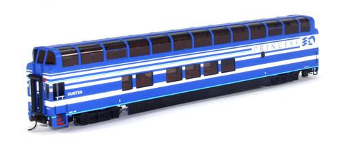 "Bachmann Silver Series HO 13346 89' Colorado Railcar Full Dome Car with LED Lighted Interior, Denali Princess ""Hunter"" 7087"