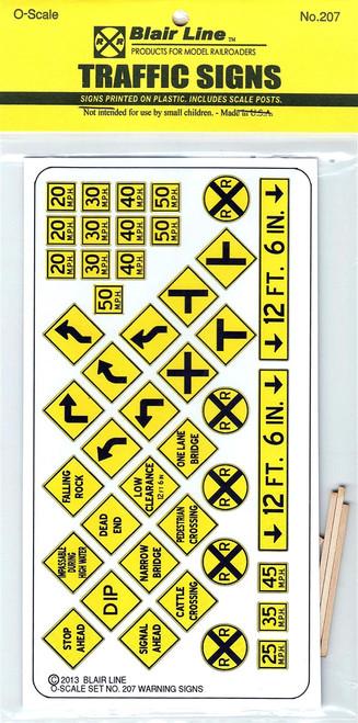 Blair Line O 207 Warning Signs #3