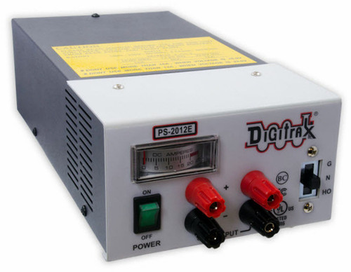 Digitrax N/HO/G PS2012E 20-Amp Regulated Power Supply