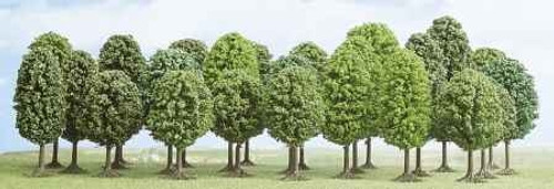 Busch HO 6487 Deciduous Trees, Assorted (25)