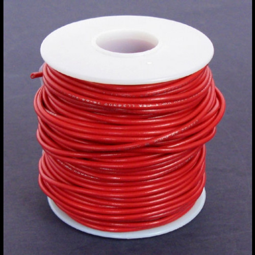 A.E. Corporation 18RD-100S 18 GA Red Hook-Up Wire, Solid 100'