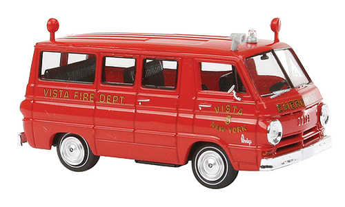 Brekina HO 34304 Emergency 1964 Dodge A 100 Passenger Van, Vista New York Fire Rescue #5