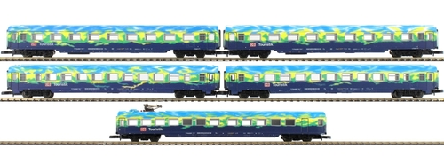 "Marklin Z 87300 DB AG ""Touristikzug"" Passenger Cars Set 1 (5-Car Set) (d)"
