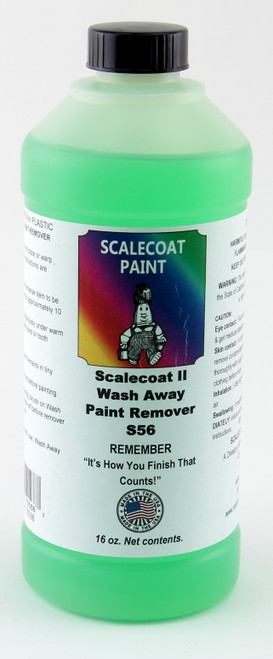 Scalecoat Model RR Paint 10568 Scalecoat II Wash Away Paint Remover (16 oz.)