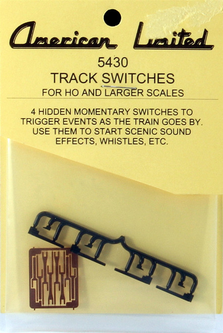 American Limited HO 5430 Track Switches (Accessories for Operating Wigwag Signal Kits, 4-Pack)