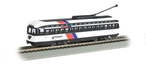 Bachmann HO 60506 PCC Streetcar, New Jersey Transit #23 (DCC and Sound Equipped)
