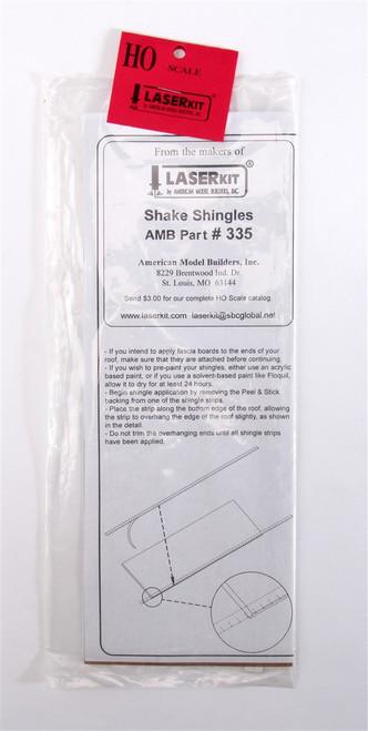 American Model Builders HO 335 Laser-Cut Shake Shingles (2)