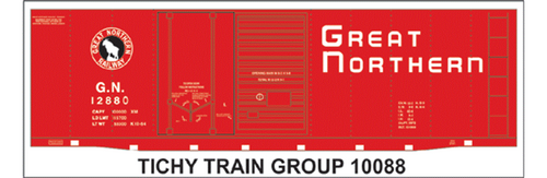 Tichy Train Group N 10088 Great Northern Decal Set for 40' Double Door Steel Box Car