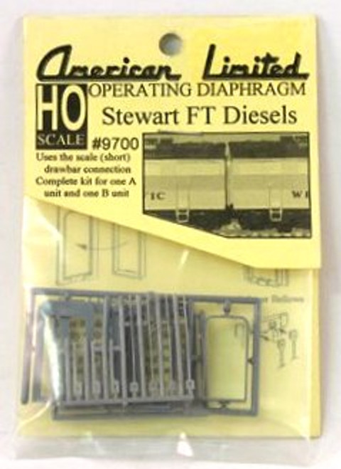 American Limited HO 9700 Operating Diaphragm for Stewart FT Diesels, Gray (Complete Set for 1 A-Unit/1 B-Unit)
