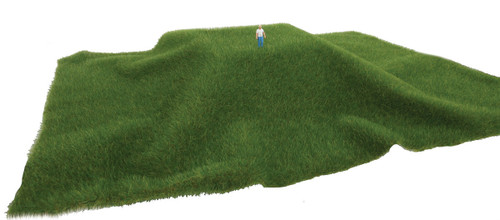 "Walthers SceneMaster 949-1125 Tear and Plant Grass Mat, Dark Green Grass 3/8"" Thick"