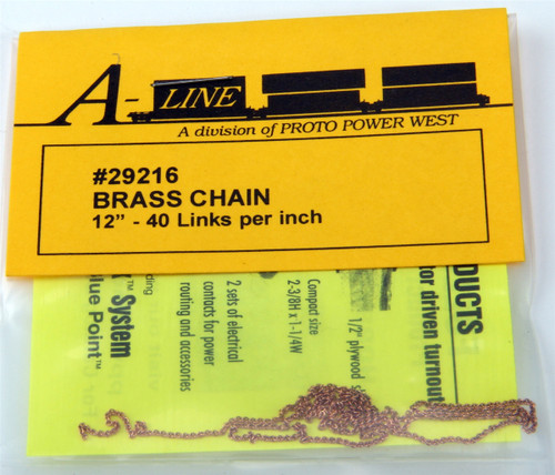 A-Line HO 29216 Brass Chain (12 Long, 40 Links per Inch)