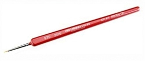 Atlas Brush Co. 0972 Golden Taklon Detail Brush, 970 5/0 (Triangle Handle)