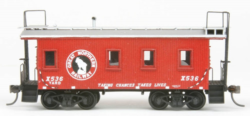 American Model Builders HO 877 Great Northern Wood Transfer Caboose Kit