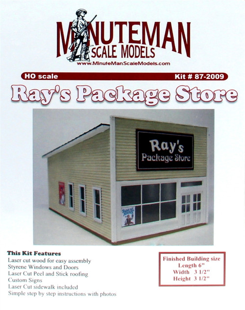 Minuteman Scale Models HO 87-2009 Ray's Package Store (d)