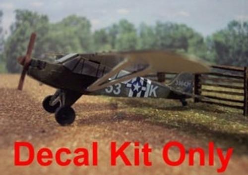 Osborn Model Kits N 3090 Piper L4 Grasshopper Decal Kit (d)