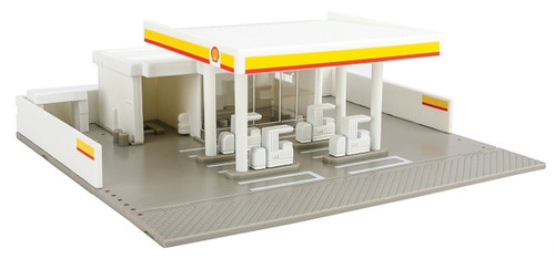 Tomix (Tomytec) N 4072 Shell Gas Station Built-Up Structure