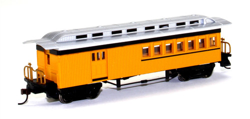 Bachmann Silver Series HO 13503 1860-1880 Combine Car, Unlettered (Yellow)