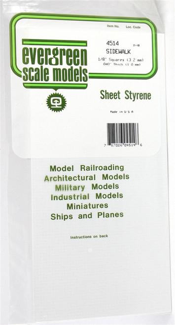 """Evergreen Scale Models 4514 Sidewalk 1/8"""""""