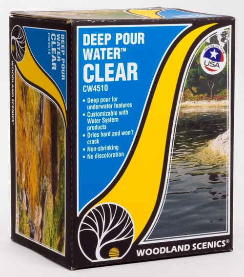 Woodland Scenics CW4510 Deep Pour Water, Clear