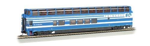 "Bachmann Silver Series HO 13348 89' Colorado Railcar Full Dome Car with LED Lighted Interior, Blackburn A Car ""Denali Princess"" #7088"