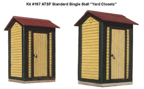 "American Model Builders HO 167 ATSF Standard Single-Stall ""Yard Closets"" Kit (2-Pack)"