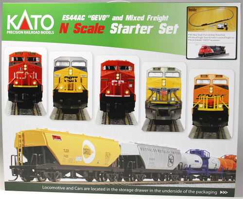 Kato N 1060020 GE ES44AC GEVO and Mixed Freight Starter Set, Canadian National