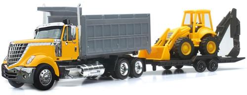 New Ray Toys O 16633 International Lonestar Dump Truck with Wheel Loader (1:43)