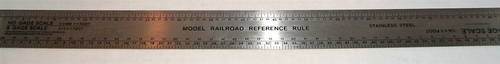 Excel 55777 12 Stainless Steel Scale Model Railroad Ruler