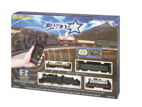 Bachmann HO 01502 Blue Star Train Set with E-Z App Wireless System Control, Baltimore and Ohio