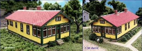 Blair Line N 094 ATSF 6-Room Section House Kit