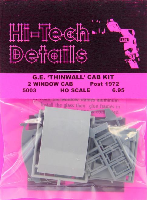 Hi-Tech Details HO 5003 Post-1972 GE Diesel Thinwall Cab Kit, 2-Window Version