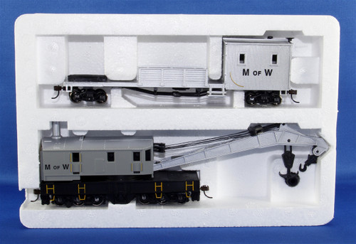 Bachmann Silver Series HO 16138 250-Ton Steam Crane Car with Boom Tender, Maintenance of Way