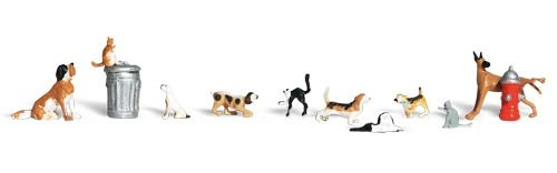 Woodland Scenics HO A1841 Dogs and Cats