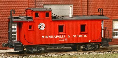 American Model Builders HO 882 Minneapolis and St. Louis Wood Cupola Caboose Kit