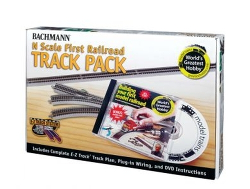 Bachmann N 44896 World's Greatest Hobby First Railroad E-Z Track Pack with Build Your First Model Railroad DVD, Narrated by Actor Michael Gross