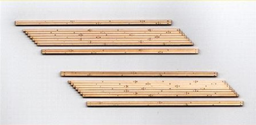 Blair Line HO 132 Laser-cut Two-lane Left Angled Wood Grade Crossing (2 sets)