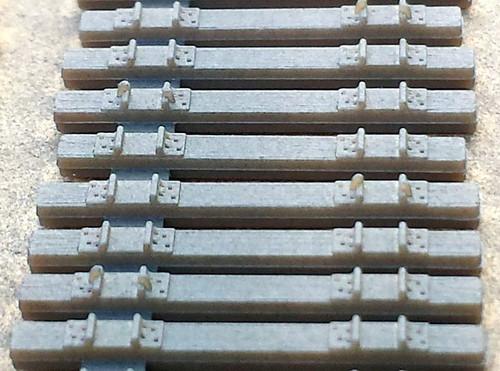 Central Valley Model Works N 3001 Code 55 Curvable Mainline Ties, 50'