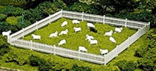 Atlas HO 779 Sheep (18 White, 1 Black)
