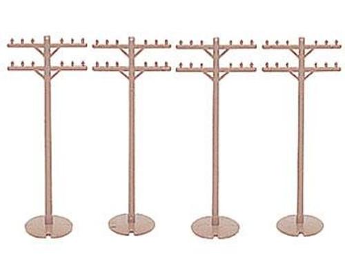 Bachmann HO 42102 Telephone Poles (12)