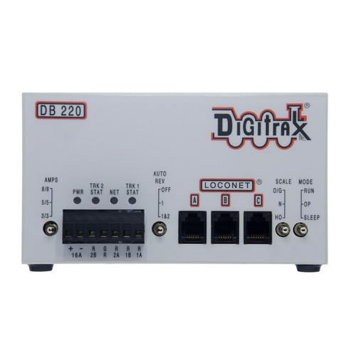 Digitrax DB220 Advanced LocoNet Dual 3/5/8 Amp AutoReversing DCC Booster (Up to 16 Amps of Power)