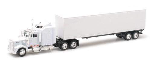 New Ray Toys O 15843 Kenworth W900 White Long Hauler