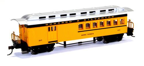 """Bachmann Silver Series HO 13504 1860-1880 Combine Car, Durango and Silverton """"Home Ranch"""" #213"""