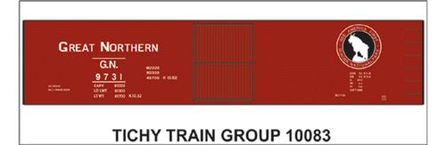 Tichy Train Group N 10083 Great Northern Decal Set for 40' DS Box Car (d)