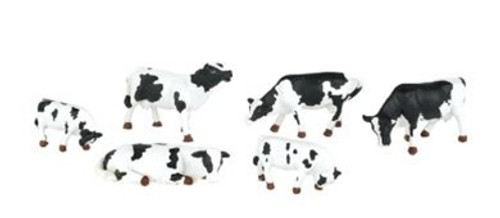 Bachmann HO 33103 Cows, Black and White (6)
