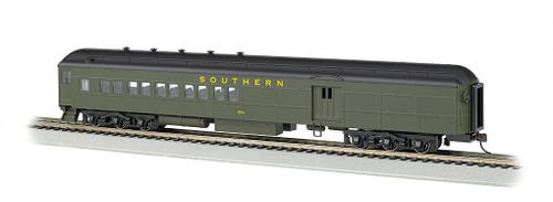 Bachmann Silver Series HO 13606 72' Heavyweight Combine Car with 2-Window Door and LED Lighted Interior, Southern #654