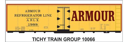 Tichy Train Group HO 10066 Armour Refrigerator Line Decal Set for Reefer Car