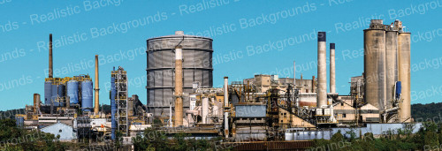 "Realistic Backgrounds 704-05 Concrete Plant Scene 13"" x 38"""