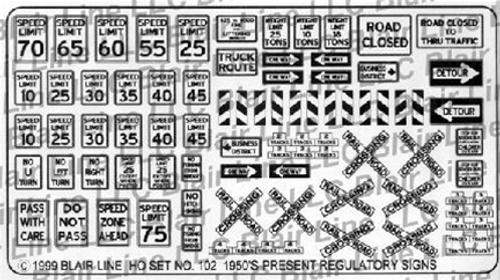 Blair Line N 002 Traffic Signs (Black Text)
